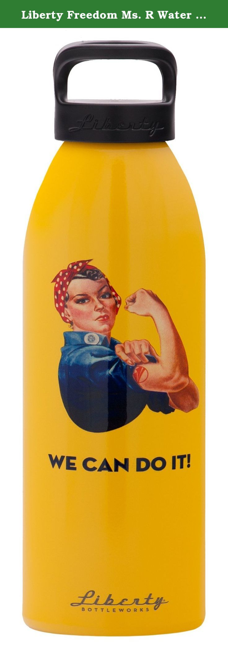 Liberty Freedom Ms. R Water Bottle (Saffron, 24-Ounce). Liberty bottleworks is the only metal bottle manufacturer on the market that makes everything in America. Liberty offers fully customizable cylindrical printing onto a variety of solid color finishes, including: gloss, luster and metallic. There's something here for everyone. We produce our bottles in a renewable manner; the metal is formed in our zero-waste factory with super strong and partially recycled 3003 aluminum coils. The...