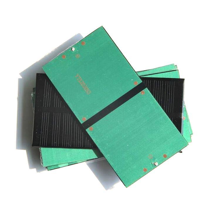 BUHESHUI High Quality 1W 6V Monocrystalline Small Solar Panel Mini Solar Cell Education Kits DIY Solar Toys/System 125*63MM
