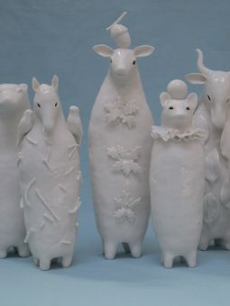 Group shot, porcelain sculpture
