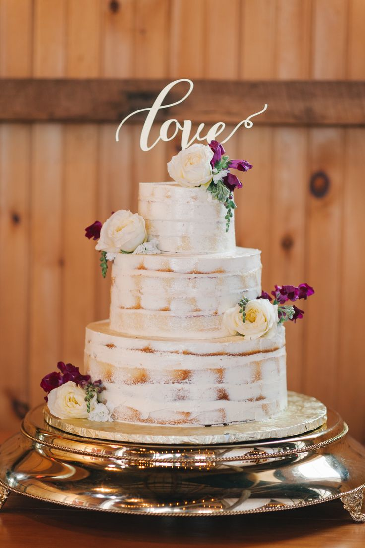 Naked Wedding Cake I SugarBakers Cake I Photo by Amanda Adams Photography