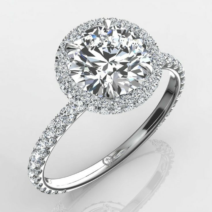 18k White Gold Nicole #DoubleHaloRing   Create your dream #engagementring. Feel free to email your custom requests for a very reasonable price or just send us your specs for a quick quote at https://www.eternitybyyoni.com/engagement-rings/diamond-engagement-ring/Nicole-Double-Halo-Ring-532.htm#