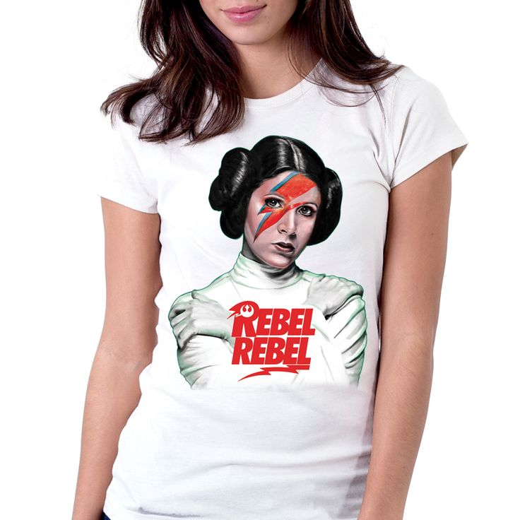 Camiseta Star Wars Rebel Rebel Bowie Princesa Leia Organa