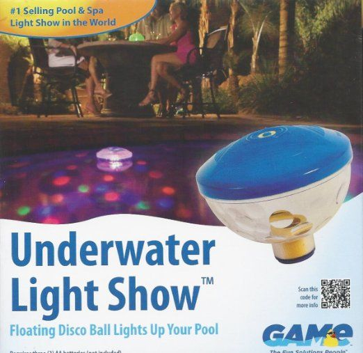 Swimming pool floating disco ball underwater for Pool light show walmart