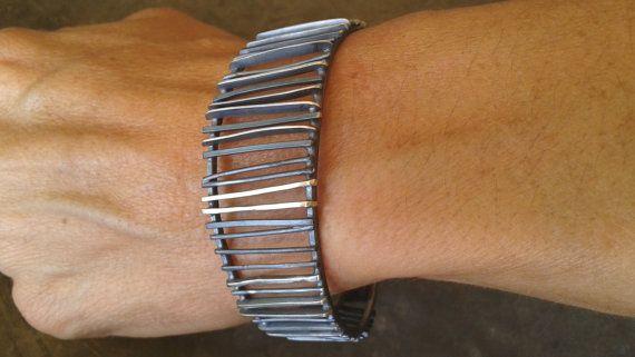 Οxidized silver cuffArtsy handmade oxidized  silver by Jewelartla