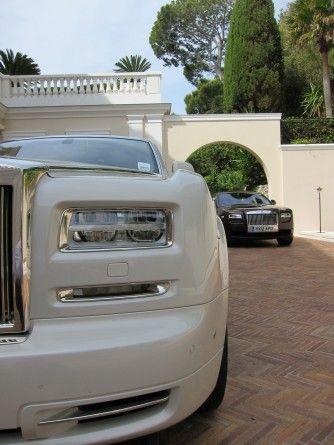 Rolls Royce Phantom Hire.  Black and White!  www.OpulentlyDriven.com