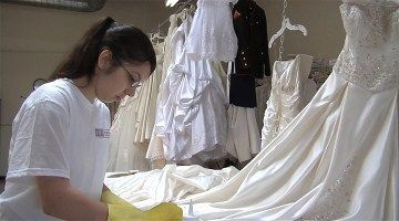 Get stains, dirt and perspiration out of your #wedding gown with our hand #wedding gown cleaning