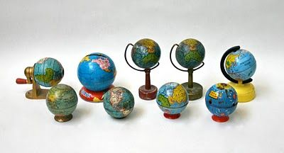 adorable... and easier to store than my standard size vintage globe collection!