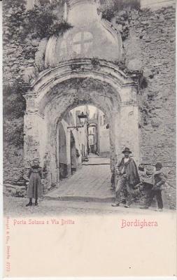 Stengel & Co Postcard - Bordighera - Porta Solana e Via Dritta - 6773