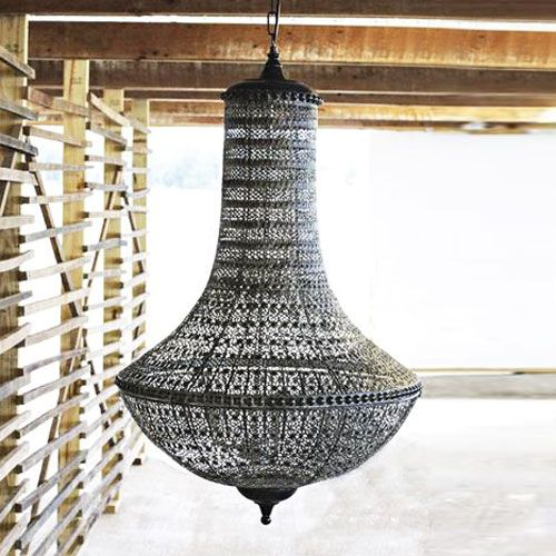 Tired Of Stuffy Old Fancy Chandeliers This Distressed Charcoal Colored Lighting Fixture Will Bring World Traditions To Your New Home In A