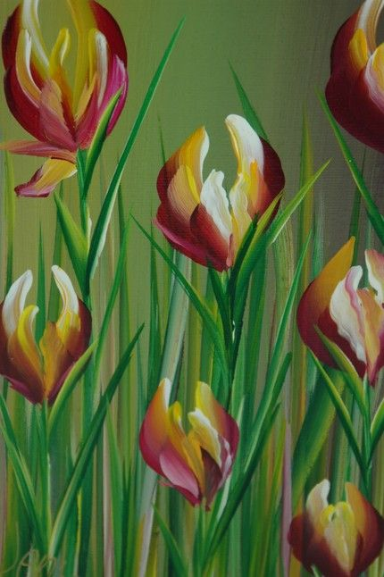 1000 images about painting flowers on pinterest easy for Simple flower painting ideas