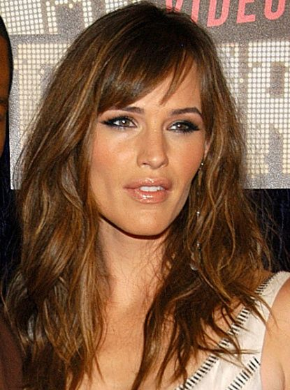 I want this hair color and highlights.  The bangs are really cute too!