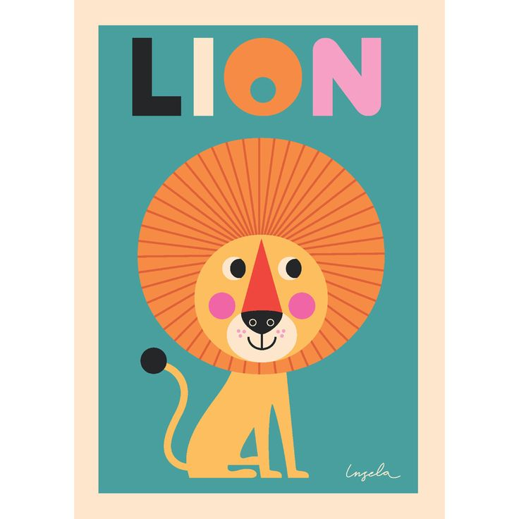 Lion Wall Art Print by Ingela Arrhenius (£18.95) Gorgeous, fun and quirky gifts for you and your home Hunkydory Home