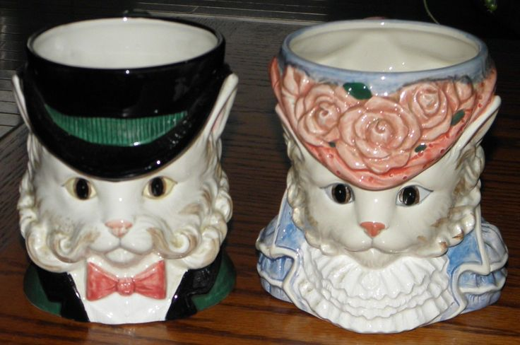 Set of 2 Fitz Floyd 1988 Kittens of Knightsbridge Figural Mugs Retired | eBay