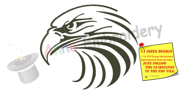 Check out my embroidery Eagle Head Embroi...! Now is here! http://www.annaembroiderydesigns.com/products/eagle-head-embroidery-design?utm_campaign=social_autopilot&utm_source=pin&utm_medium=pin