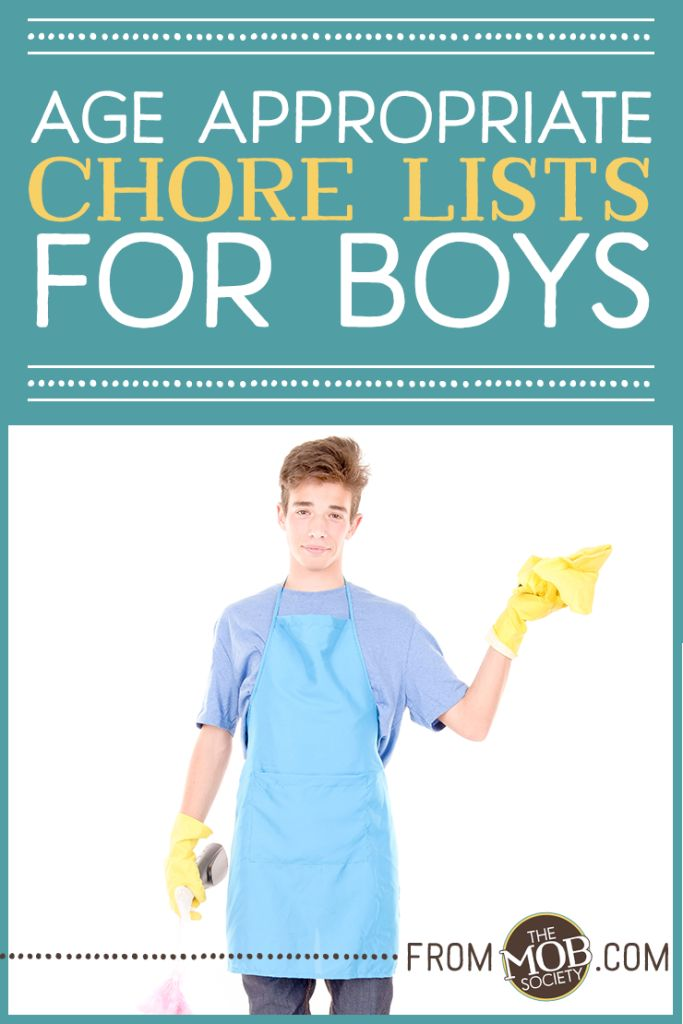 Age Appropriate Chores for Boys via The MOB Society Kids