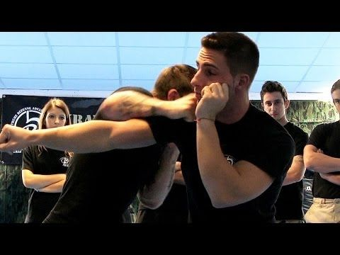 Kidnapping Bearhug Defense : Krav Maga Technique : KMW Krav Maga Self Defense w/ AJ Draven - YouTube