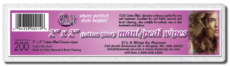 The mani/pedi wipes help remove nail polish. They are also perfect for cleaning nail art brushes as well as makeup brushes