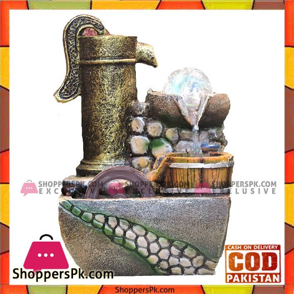 Buy Home Decoration High Quality Small Waterfall With Runing Water Wheel At Best Price In Pakistan Small Waterfall Decor Water Wheel