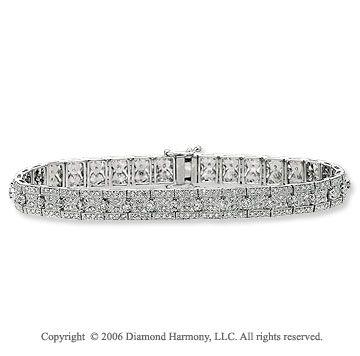 14k White Gold Pave Prong 2.35 Carat Diamond Tennis Bracelet -> Description: Relish the exquisite detail of the pave set diamonds. You will feel like royalty in this 14k White Gold Pave Prong 2.35Carat Diamond Tennis Bracelet. -> sku=BR7680 -> Price $3440.00