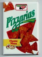 Pizzarias Pizza Chips - FRIDGE MAGNET - 80's snack food keebler cheese junk I LOVED THESE AS A KID!!!