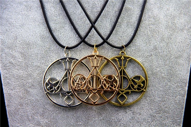 Hunger Games Divergent percy Jackson Emblem Logo The Mortal Instruments Necklace Jewelry Pendant Gift