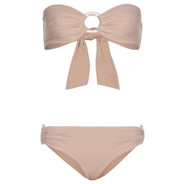 Marysia Coronado Bikini ($380) ❤ liked on Polyvore featuring swimwear, bikinis, neutrals, bikini swim wear, bikini swimwear, marysia swim, bikini two piece and nude swimwear