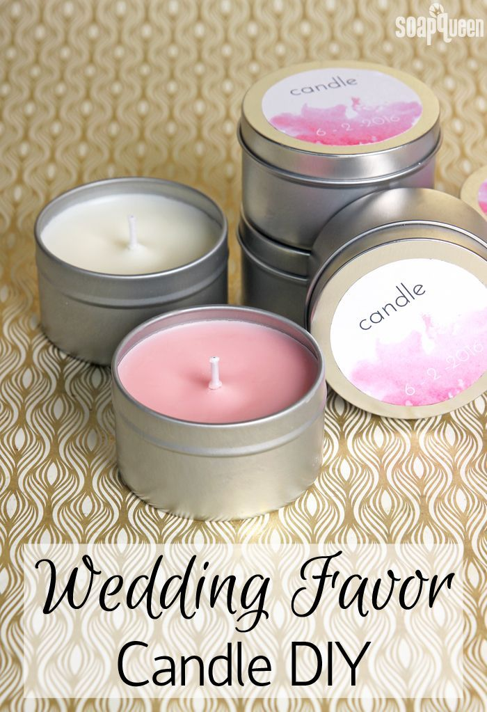 Learn how to make candles to give as wedding favors or gifts. The post also includes a free printable to package your favors!