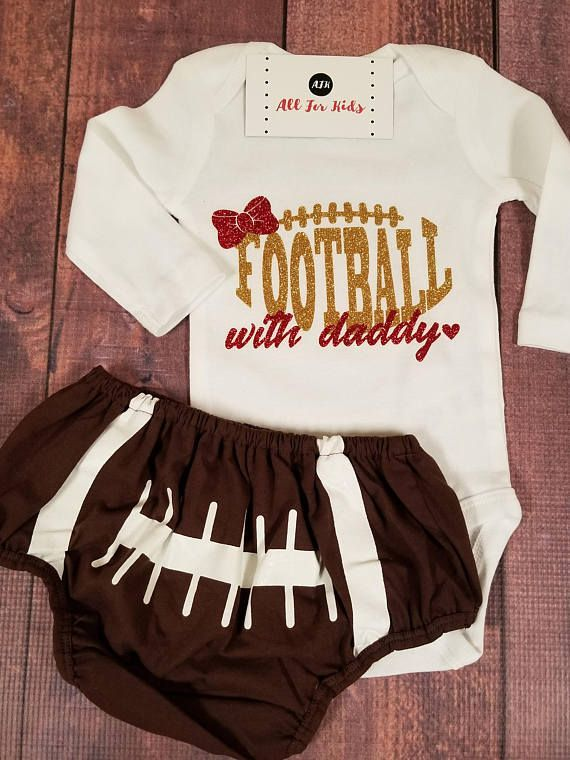 Baby Girl Clothes, Football With Daddy Bodysuit, Infant #ad