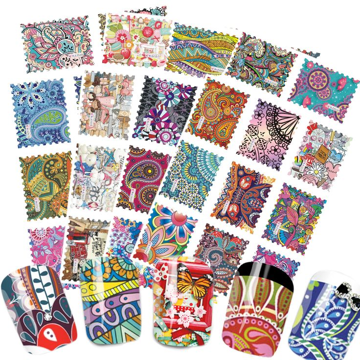 Cheap nail art stickers set, Buy Quality design nail art stickers directly from China nail art stickers Suppliers:  44 designs/lot Large Size Nail Art Sticker Sets Mix Colorful Stamp for DIY Charm Full Decor Decals Tools BLE2535-2578