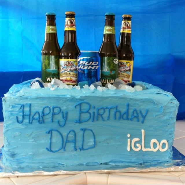 Cooler Birthday Cake I Made for my Husband.