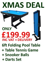 Riley Vertically Folding 6ft Pool Table | PT20-6DPlus