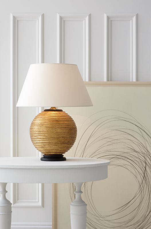 Hugo table lamp by alexa hampton ah3105 available in gilded wood and ivory porcelain