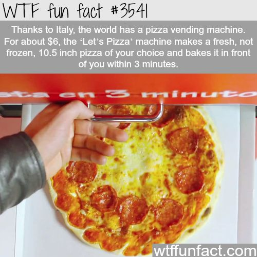 The world first pizza vending machine - WTF fun facts