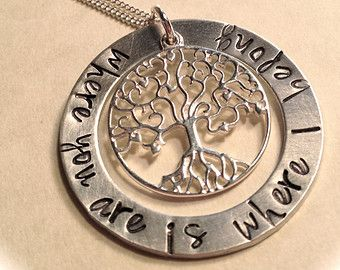 41 best washer pendants images on pinterest drop necklace pendant sterling silver where you are is where i belong tree of life washer pendant aloadofball Choice Image