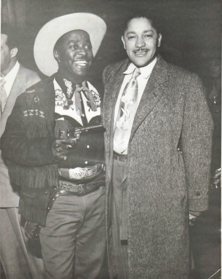 Louis Jordan and John Dolphin of Dolphin Records LA.