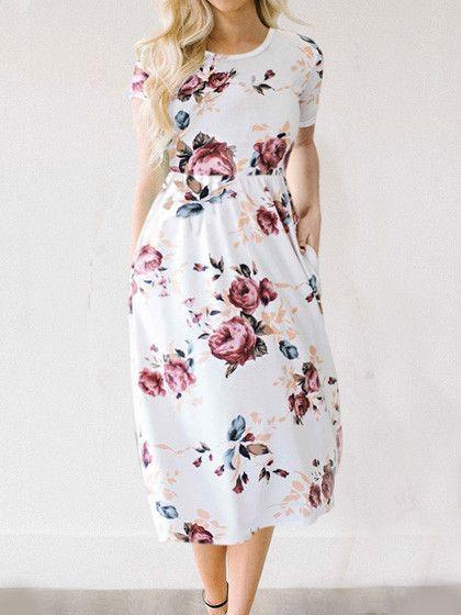 Feeling Gorgeous Floral Print Dress