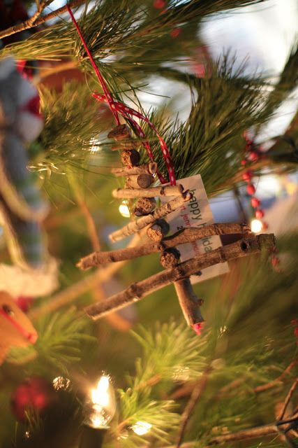 rustic Christmas crafts | Christmas ornaments