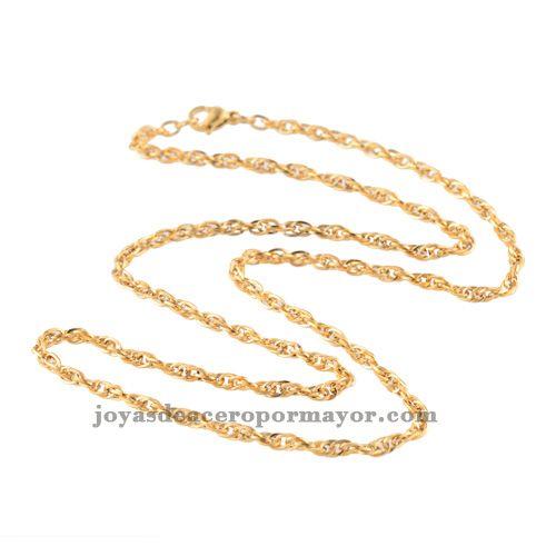 51cm cadenas de oro precios para dijes