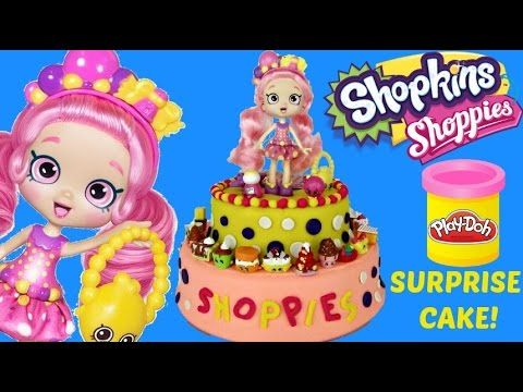 BUBBLEISHA Shoppies Doll Play doh Surprise Cake / Ultra Rare Shopkins, P...