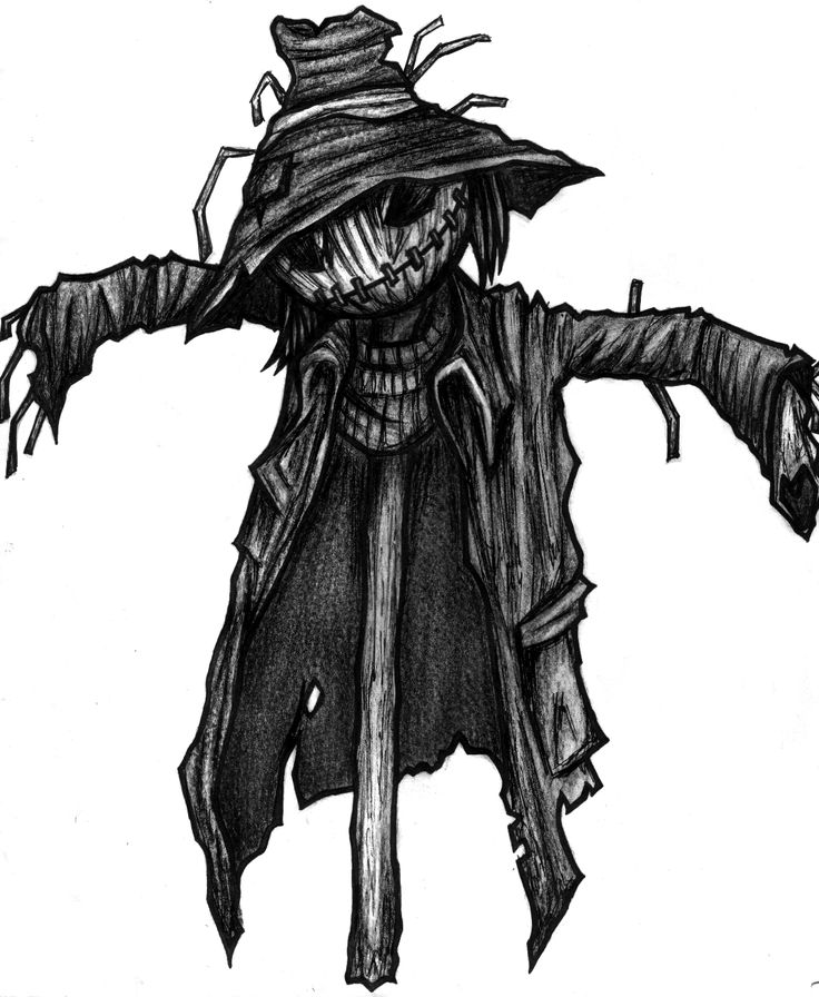scarecrow art scarecrow original sketch by aranaea traditional art drawings other