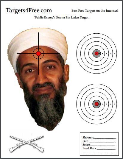 Osama Bin Laden Shooting Target by Targets4Free.com #Osamabinladen #osama #bin #laden #shooting #target #guns #targets4free #targets #4 #free
