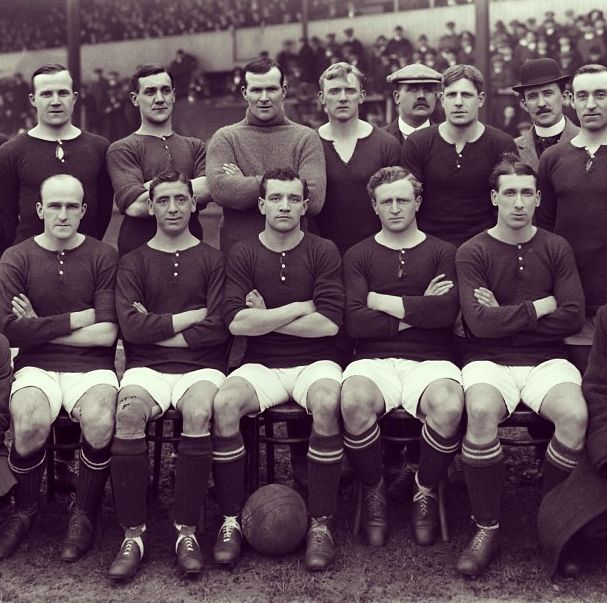 This year 100 years ago, Woolwich Arsenal moved into the Arsenal Stadium, better known as Highbury. This is the squad photo for that first season in their new home, a ground they would remain in for the next 93 years.