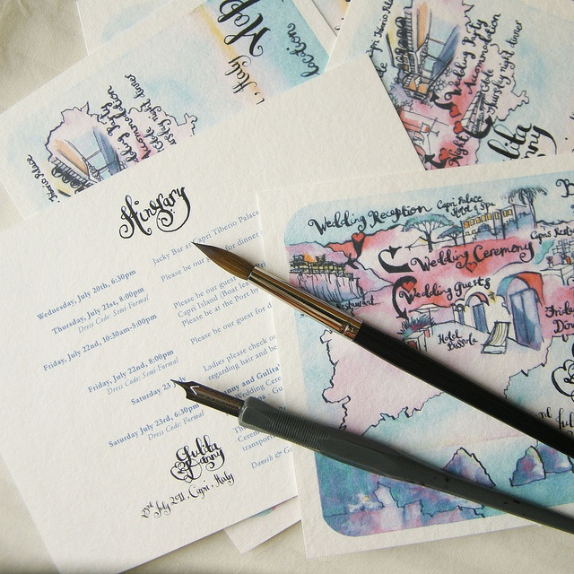 So while I ADORE this idea, I would definitely make my own.   A Capri Wedding Map by amy[treespacestudio], via Flickr