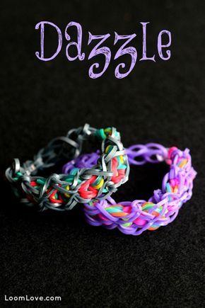 How to Make a Rainbow Loom Dazzle Bracelet #rainbowloom