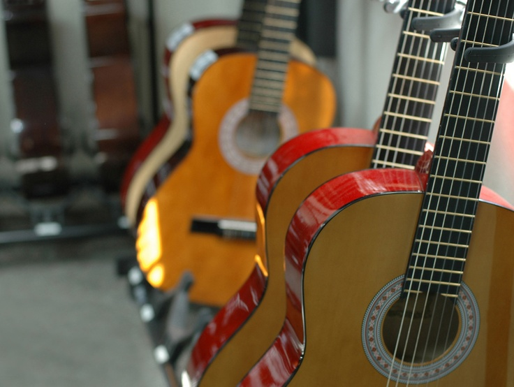 All students learn guitar in sixth grade.
