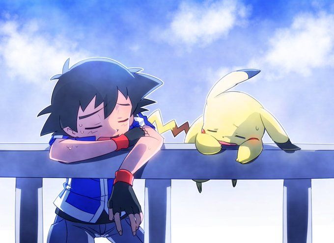 Ash and Pikachu ^.^ ♡