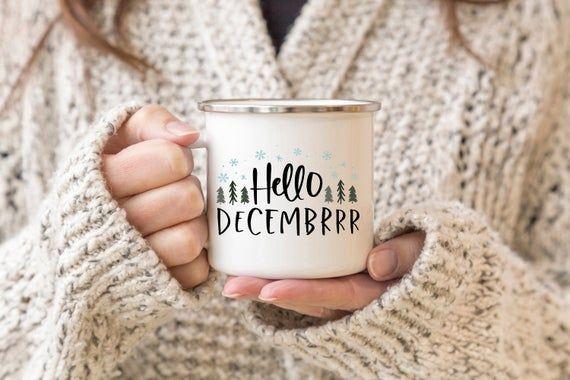 Hello Decembrrr svg – winter svg, hello december svg, christmas cut files – svg, png, eps, dxf, jpeg