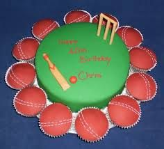 Cricket Cake & cupcakes - Contact Hyderabad Cupcakes to order!