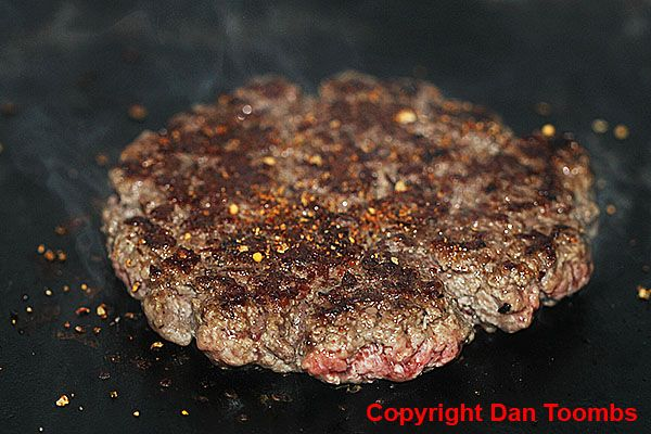How To Make A Homemade Squeeze Burger - Sprinkle your patty with your favourite steak seasoning.