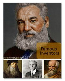Famous Inventors Collection by Enrichment Studies - $14.95 Value FREE right now!  Your curious kids will love these collections full of fascinating people that will astound and inspire them! Learn about 11 famous and inspirational inventors: Archimedes, Alexander Graham Bell, George Washington Carver, Jacques Cousteau, Leonardo da Vinci, Thomas Edison, Henry Ford, Benjamin Holt, Samuel F.B. Morse, Nikola Tesla, and the Wright Brothers